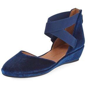 Gentle Souls Velvet D'Orsay Ankle Wrap Shoes